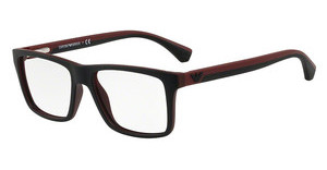 Emporio Armani EA3034 5614 TOP BLACK ON BORDEAUX RUBBER