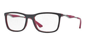 Ray-Ban RX7029 5259 TOP BLACK ON MATTE BORDEAUX