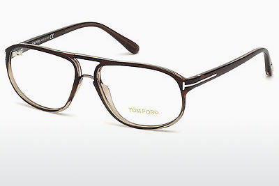 Okulary od projektantów. Tom Ford FT5296 050 - Brązowe, Dark