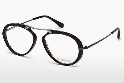 Okulary od projektantów. Tom Ford FT5346 052 - Brązowe, Dark, Havana