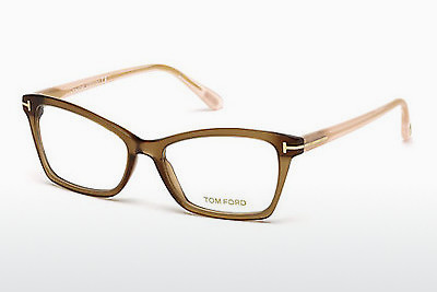 Okulary od projektantów. Tom Ford FT5357 048 - Brązowe, Dark, Shiny