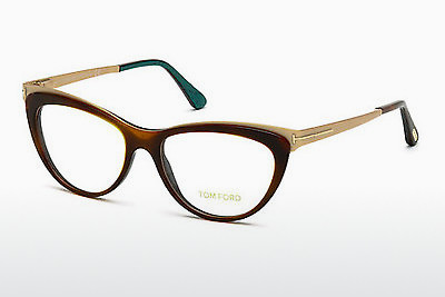 Okulary od projektantów. Tom Ford FT5373 052 - Brązowe, Dark, Havana