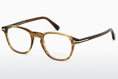 Okulary od projektantów. Tom Ford FT5389 048 - Brązowe, Dark, Shiny