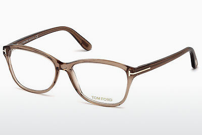 Okulary od projektantów. Tom Ford FT5404 048 - Brązowe, Dark, Shiny