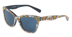 Dolce & Gabbana DG4237 307880 BLUEPRINT MAJOLICA ON BLUE