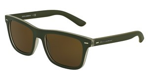 Dolce & Gabbana DG6095 289873 BROWNTOP CRYSTAL/GREEN RUBBER