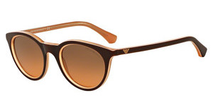 Emporio Armani EA4061 548018 ORANGE GRADIENT LIGHT GREYBROWN ON TR PEACH