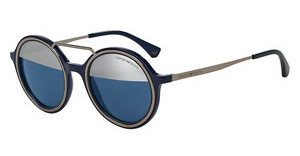 Emporio Armani EA4062 54521X DARK BLUE TOP MIRROR SILVERBLUE/GUNMETAL