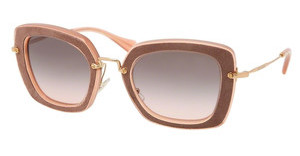Miu Miu MU 07OS OAO1E2 GRAY GRADIENTANTIQUE PINK/BROWN
