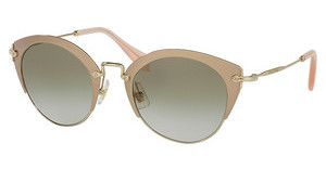 Miu Miu MU 53RS UFD3H2 LT BROWN GRAD LT GREENMIRROR PINK/PALE GOLD