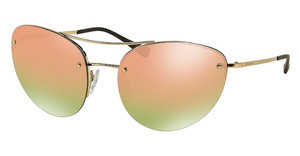 Prada Sport PS 51RS ZVN5L2 GREY MIRROR ROSE GOLDPALE GOLD