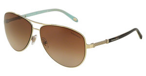 Tiffany TF3048B 60913B BROWN GRADIENTPALE GOLD