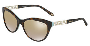 Tiffany TF4119 81346E CLEAR GRAD LT BROWN MIRR GOLDHAVANA/BLUE