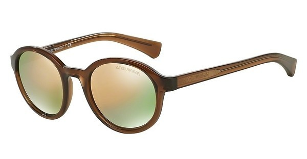Emporio Armani EA4054 53744Z GREY MIRROR ROSE GOLDTRANSPARENT BROWN