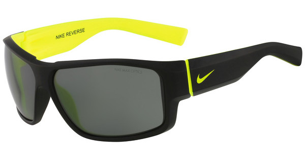 Nike NIKE REVERSE EV0819 047 MATTE BLACK/VOLT WITH GREY LENS
