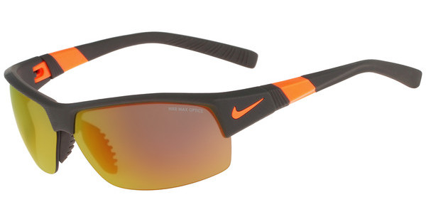 Nike SHOW X2 R EV0822 208 MATTE DEEP PEWTER/TOTAL ORANGE/SHATTER WITH GREY W/ ML ORANGE FLASH /GREY LENS
