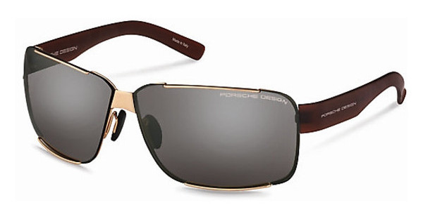 Porsche Design P8580 E light olive, silver mirrored + greygold