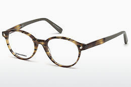 Okulary od projektantów. Dsquared DQ5227 053 - Havanna, Yellow, Blond, Brown