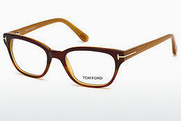 Okulary od projektantów. Tom Ford FT5207 047 - Brązowe, Bright