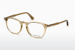Okulary od projektantów. Tom Ford FT5401 045 - Brązowe, Bright, Shiny