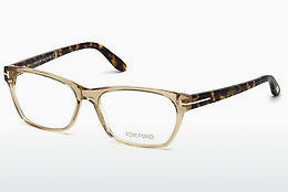 Okulary od projektantów. Tom Ford FT5405 045 - Brązowe, Bright, Shiny