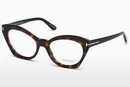 Okulary od projektantów. Tom Ford FT5456 052 - Brązowe, Dark, Havana