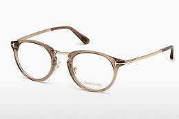 Okulary od projektantów. Tom Ford FT5467 045 - Brązowe, Bright, Shiny