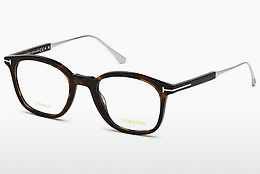 Okulary od projektantów. Tom Ford FT5484 052 - Brązowe, Dark, Havana