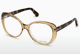 Okulary od projektantów. Tom Ford FT5492 045 - Brązowe, Bright, Shiny