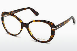 Okulary od projektantów. Tom Ford FT5492 052 - Brązowe, Dark, Havana