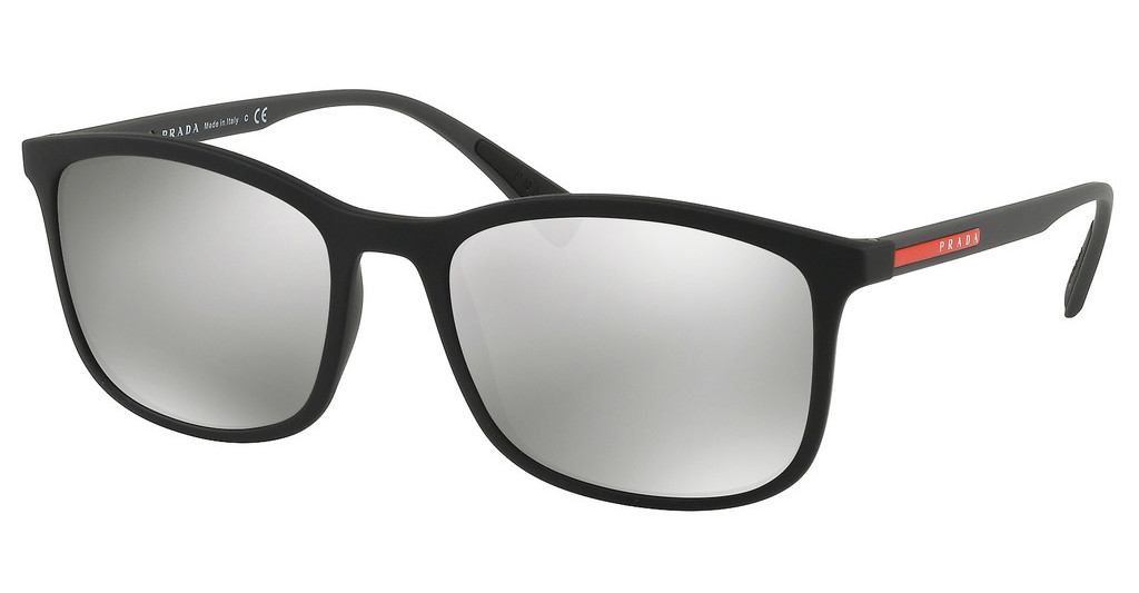 Prada Sport   PS 01TS DG02B0 LIGHT GREY MIRROR SILVERBLACK RUBBER