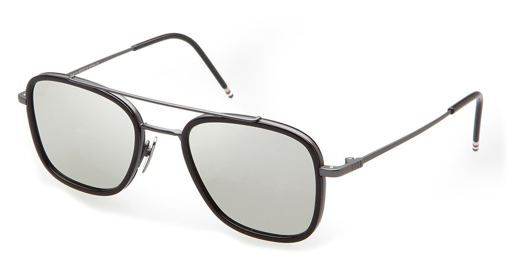 Thom Browne   TB-800 F Dark Grey- Silver Mirror - ARBlack Iron-Black