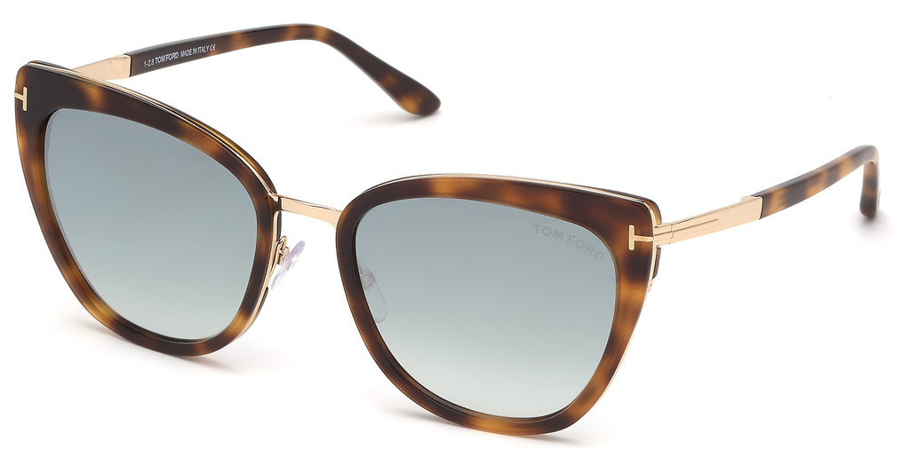 Tom Ford   FT0717 53Q grün verspiegelthavanna blond