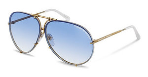 Porsche Design P8478 W blue gradient + brownyellow gold