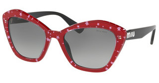 Miu Miu MU 05US 1403M1 GREY GRADIENTBLACK TOP RED/WHITE STARS