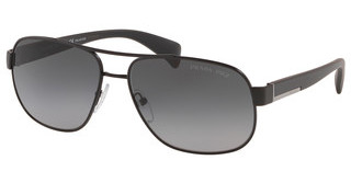 Prada PR 52PS 1BO5W1 POLAR GREY GRADIENTMATTE BLACK