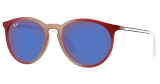 Ray-Ban RB4274 6366D1 DARK VIOLET MIRROR REDGRAD BORD/RUBBER LT BROWN TR