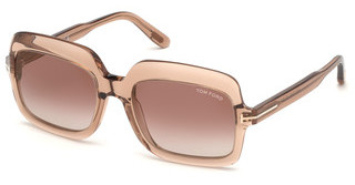 Tom Ford FT0688 45G braun verspiegeltbraun hell glanz