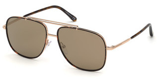 Tom Ford FT0693 28G braun verspiegeltrosé