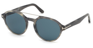 Tom Ford FT0696 47V blaubraun hell