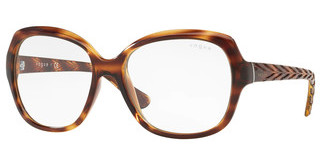 Vogue VO2871S 15085X CLEAR & ARSTRIPED DARK HAVANA